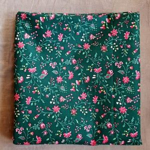 Vintage Green Floral Quilting Cotton Fabric 2y